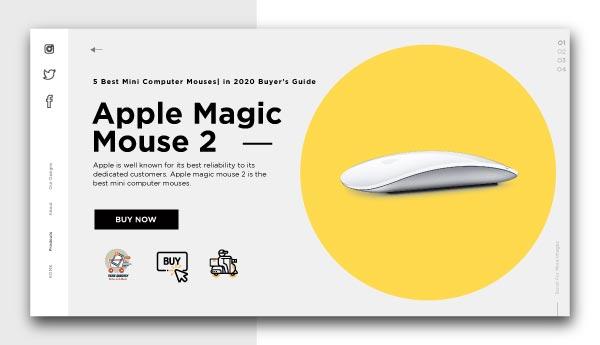 best mini computer mouses-Apple Magic Mouse 2