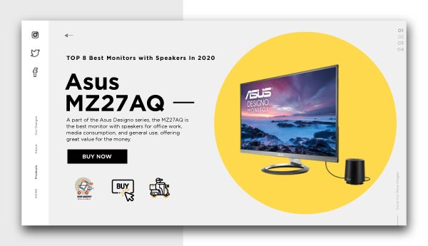 best monitors with speakers-Asus MZ27AQ