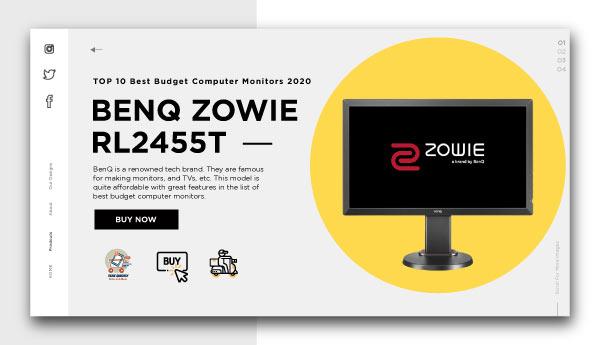 best budget computer monitors-BenQ ZOWIE RL2455T