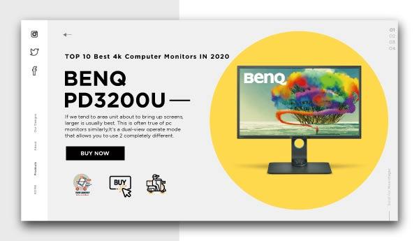 Best 4k Computer Monitors - BenQ PD3200U