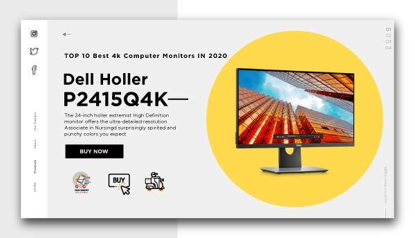 Best 4k Computer Monitors-Dell Holler P2415Q