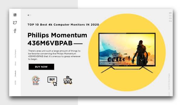 Best 4k Computer Monitors - Philips Momentum 436M6VBPAB