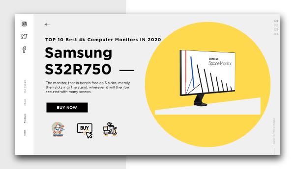 Best 4k Computer Monitors -Samsung-s32r750