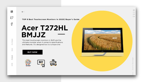 Best Touchscreen Monitors-Acer T272HL