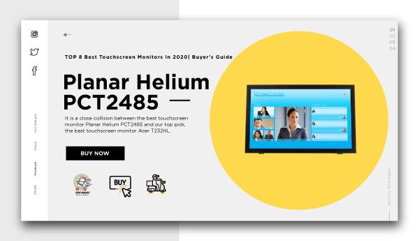 Best Touchscreen Monitors-Planar Helium PCT2485
