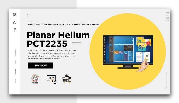 Best Touchscreen Monitors- planar helium Pct2235