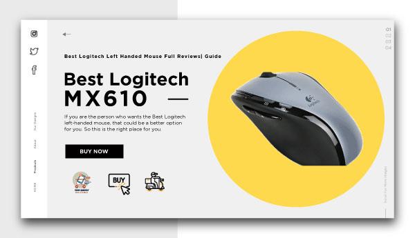 Best logitech left handed mouse-Logitech MX610
