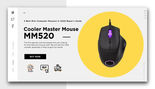 best mini computer mouses-Cooler Master Mouse MM520