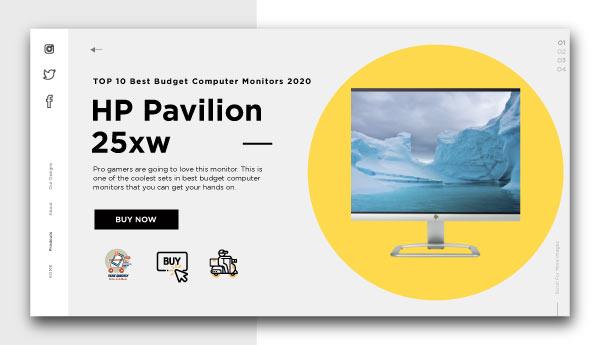 best budget computer monitors-HP Pavilion 25xw
