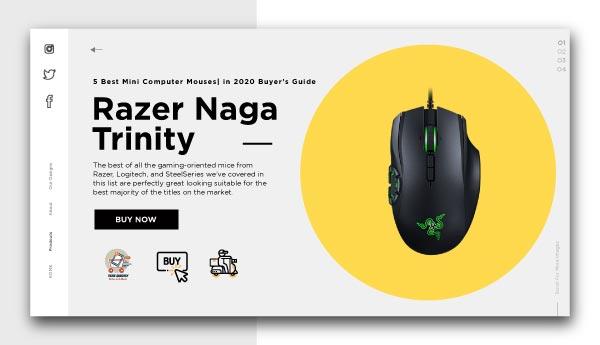 best mini computer mouses-Razer Naga Trinity