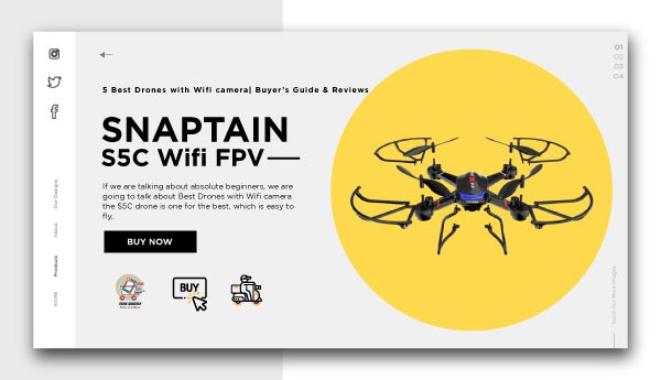 Best Drones with Wifi camera-SNAPTAIN S5C Wifi FPV Drone