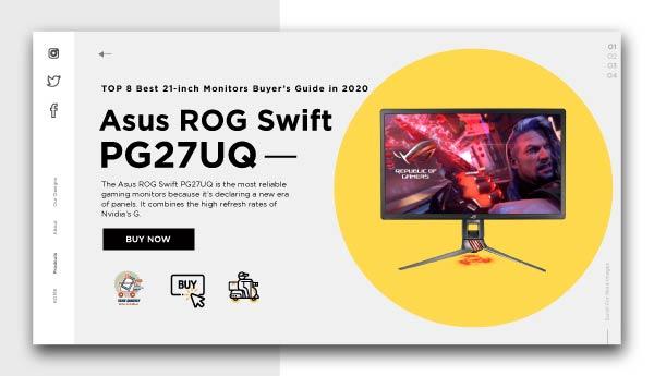 best 21 inch monitors - Asus ROG Swift PG27UQ
