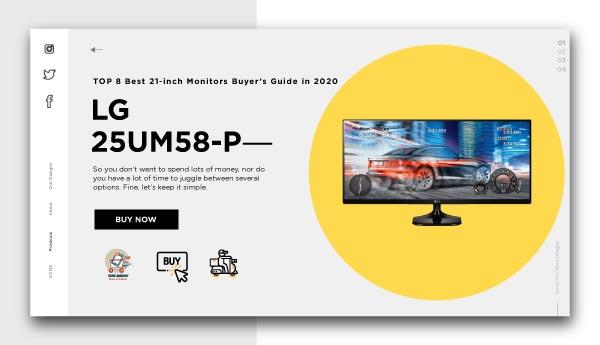 best 21 inch monitors LG 25UM58 P