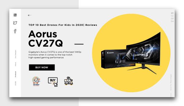 best affordable monitors-Aorus CV27Q