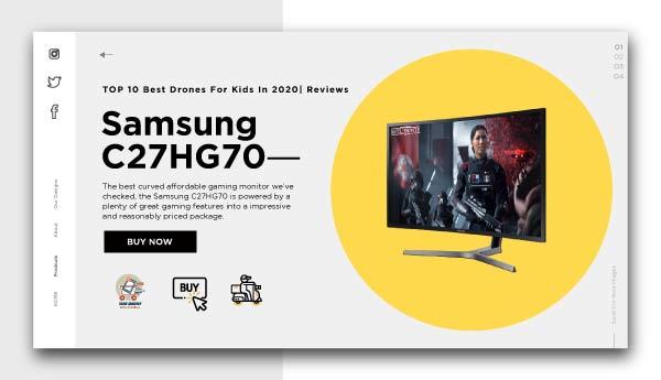 best affordable monitors-Samsung C27HG70