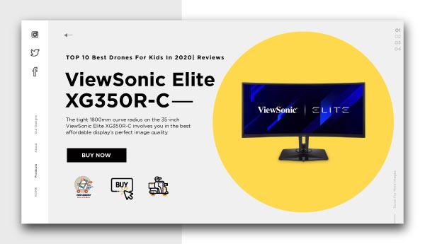 best affordable monitors-ViewSonic Elite XG350R-C