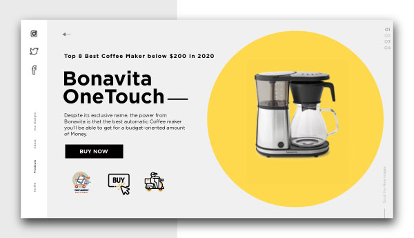 best coffee maker below $200-Bonavita-One-Touch