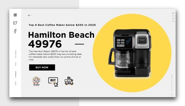 best coffee maker below $200-Hamilton-Beach-49976