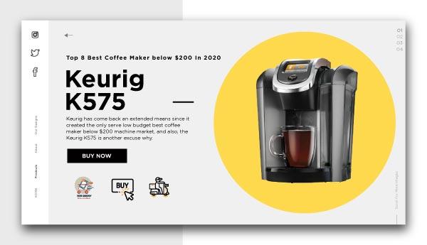 best coffee maker below $200-Keurig-K575
