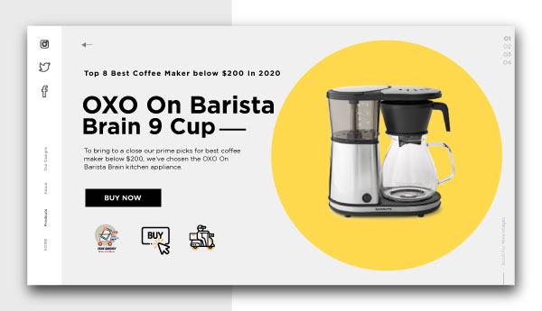 best coffee maker below $200-OXO-On