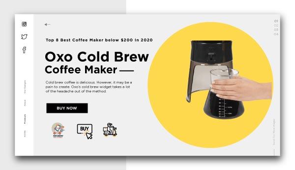 best coffee maker below $200-Oxo-Cold-Brew