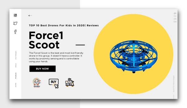 best drones for kids-Force1 Scoot