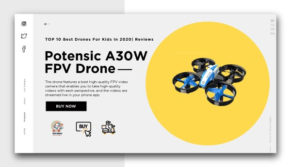 best drones for kids-Potensic A30W