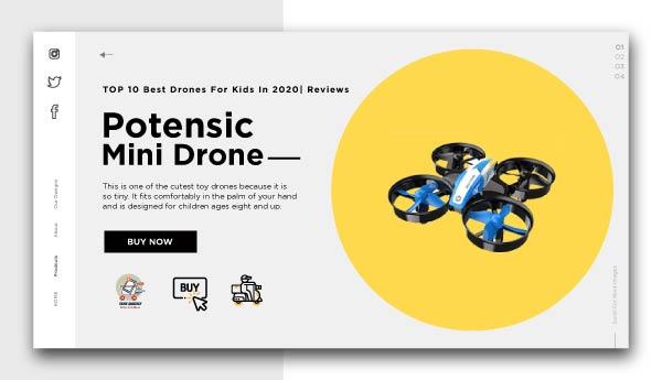 best drones for kids-Potensic Mini Drone