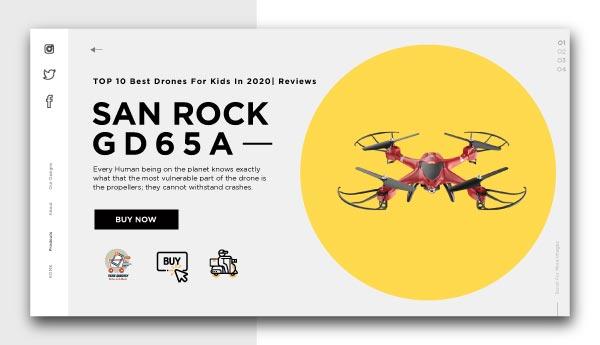 best drones for kids-SAN ROCK GD65A