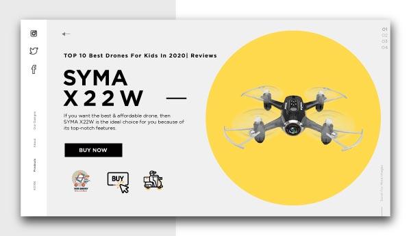 best drones for kids-SYMA X22W