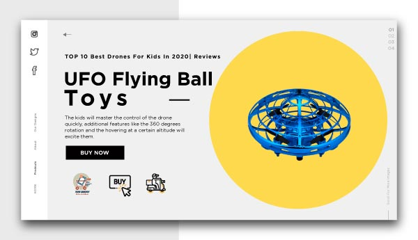 best drones for kids-UFO Flying Ball Toys