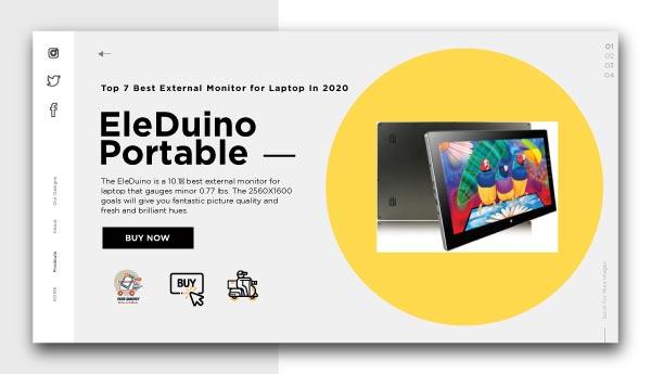 best external monitor for laptop-EleDuino-Portable