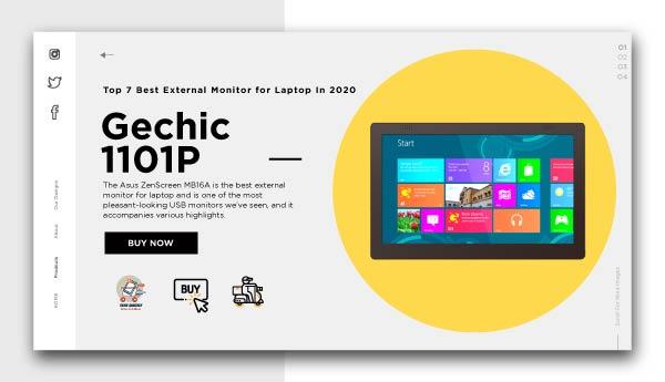 best external monitor for laptop-Gechic-1101P