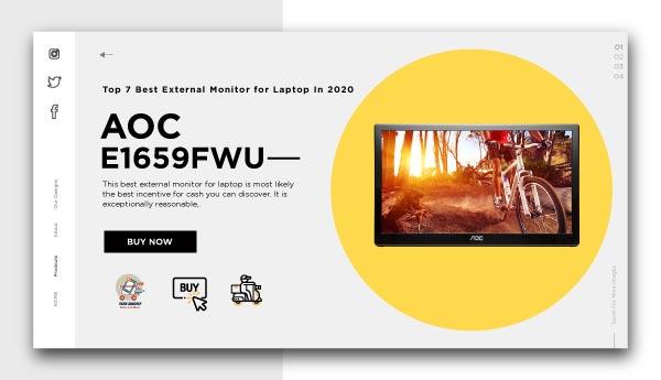 best external monitor for laptopAOC-e1659Fwu