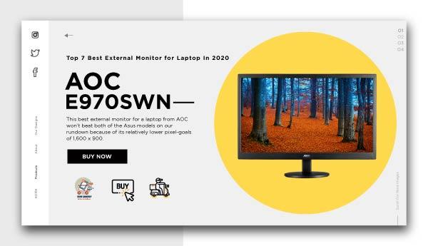 best external monitor for laptopAOC-e970swn