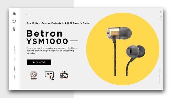 best gaming earbuds-Betron YSM1000
