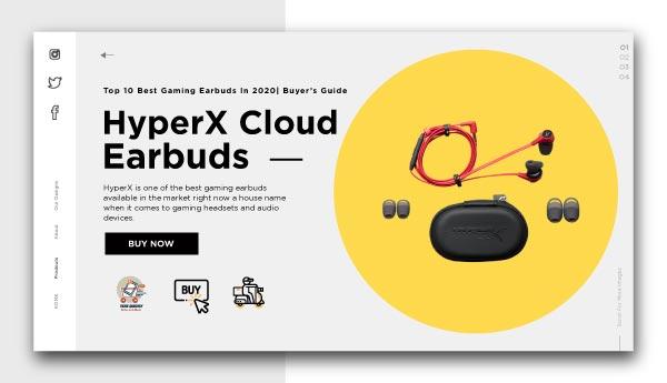 best gaming earbuds-HyperX Cloud Earbuds