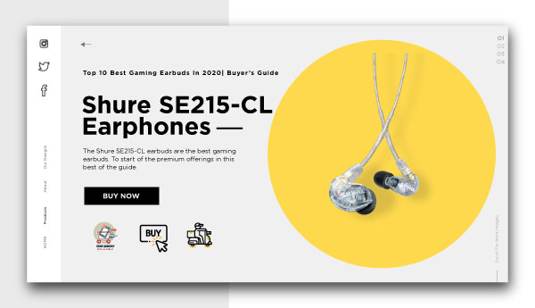 best gaming earbuds-Shure SE215-CL