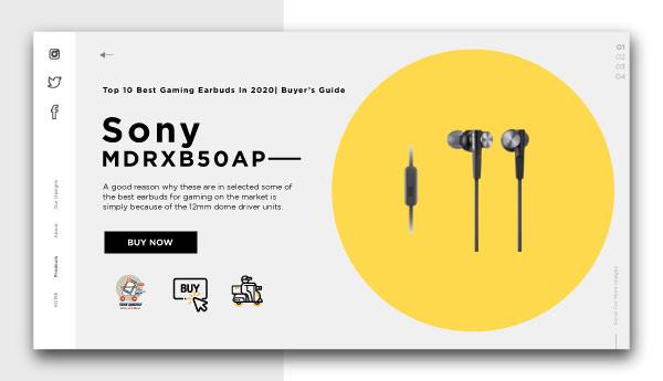 best gaming earbuds-Sony MDRXB50AP