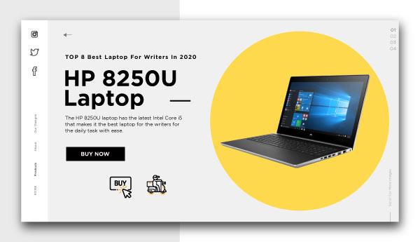 best laptop for writers-HP-8250U-Laptop
