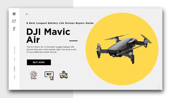 best longest battery life drones-DJI Mavic Air
