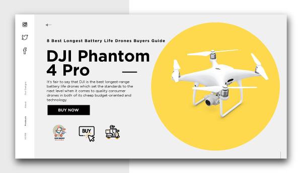 best longest battery life drones-DJI Phantom 4 Pro