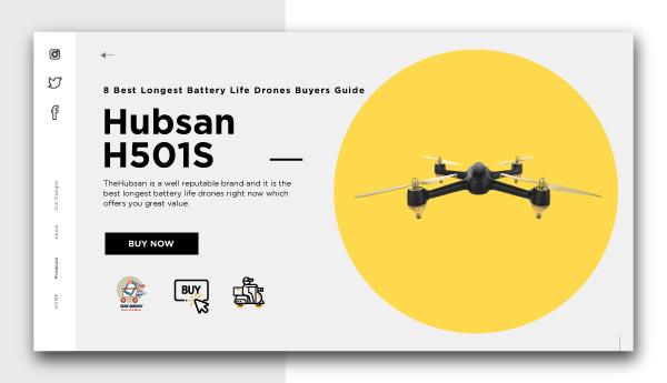 best longest battery life drones-Hubsan H501S
