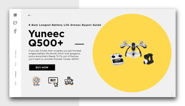 best longest battery life drones-Yuneec Q500+