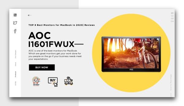 best monitors for Macbook-AOC I1601FWUX