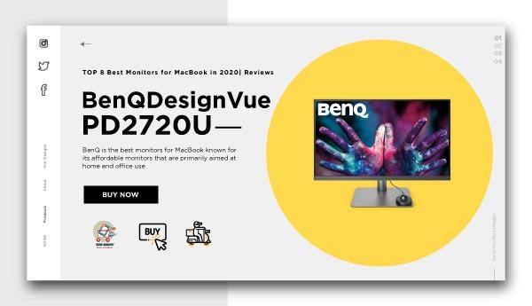 best monitors for Macbook-BenQ DesignVue PD2720U
