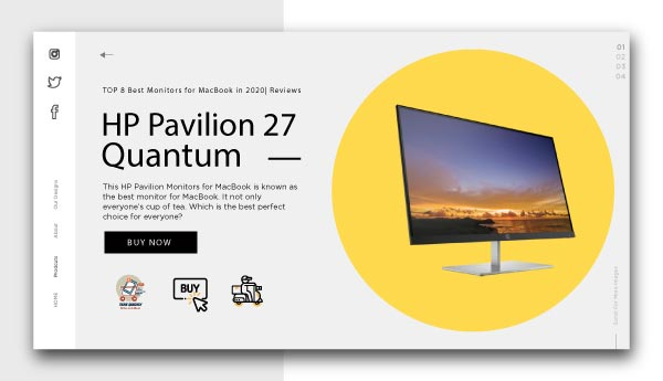 best monitors for Macbook-HP-Pavilion-27