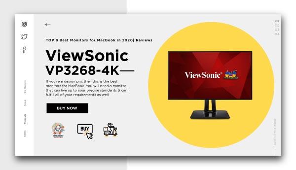 best monitors for Macbook-ViewSonic VP3268-4K