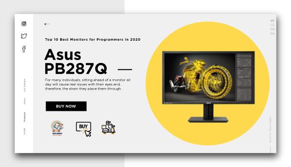 best monitors for programmers-Asus-PB287Q