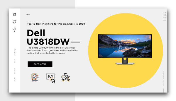 best monitors for programmers-Dell U3818DW